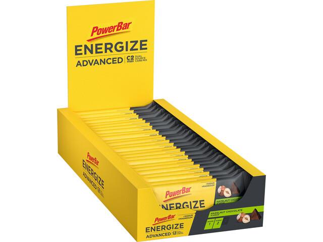 PowerBar Energize Advanced Bar Box 25 x 55g, Choco Hazelnut